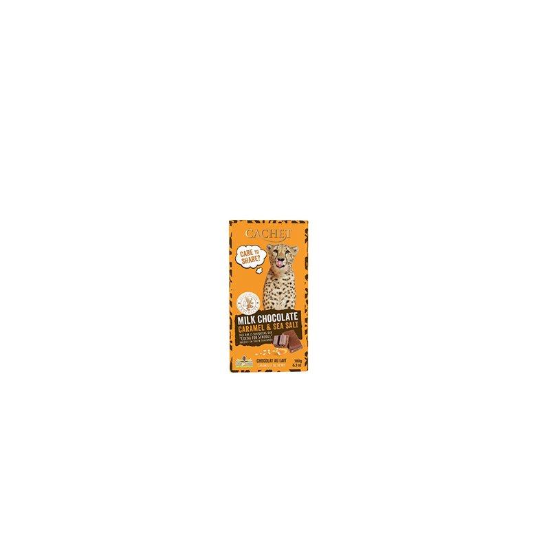 CHOCOLADE MELK SAFARI CARAMEL EN ZEEZOUT 180G